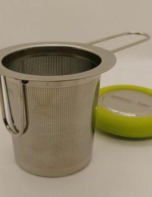 Teesieb mit klappbaren Haltern und Deckel